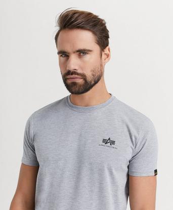 Alpha Industries T-SHIRT Basic T-shirt Small Logo Grå