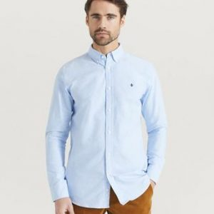 Morris Skjorta Oxford Button Down Blå