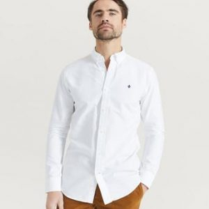Morris Skjorta Oxford Button Down Vit