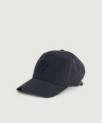 SIKSILK Keps Crushed Nylon Full Trucker Svart