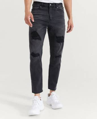 William Baxter Jeans Tapered Cropped Jeans Svart