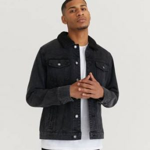 William Baxter Jeansjacka Sherpa Denim Jacket Svart