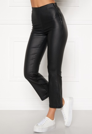 BUBBLEROOM Alicia coated kickflare trousers Black 38