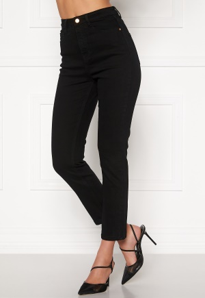 BUBBLEROOM Katy high waist semi stretch jeans Black 34