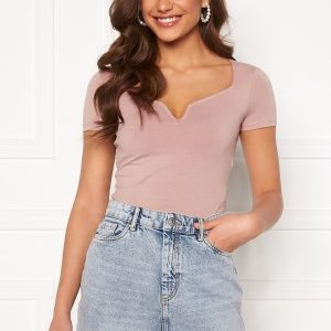 BUBBLEROOM Rudina short sleeve top Beige XL