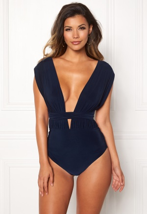 Goddiva Multi Tie Swimsuit Navy L