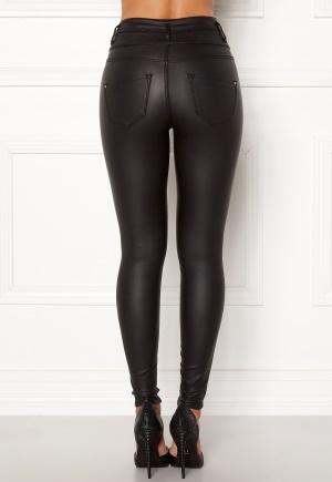 Happy Holly Daniella coated pants Black 34R