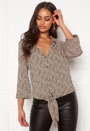Happy Holly Juliette ss knot shirt Leopard 36/38