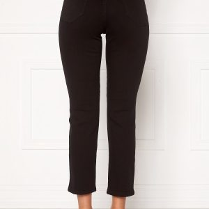Happy Holly Peggy straight leg jeans Black denim 40