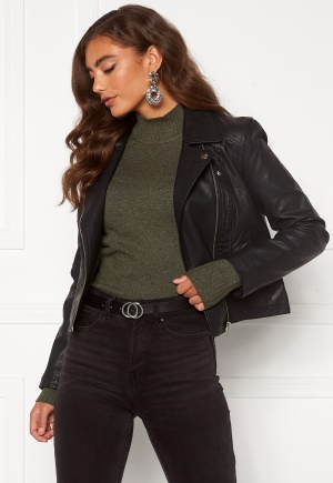 JDY Simba Faux Leather Jacket Black 38