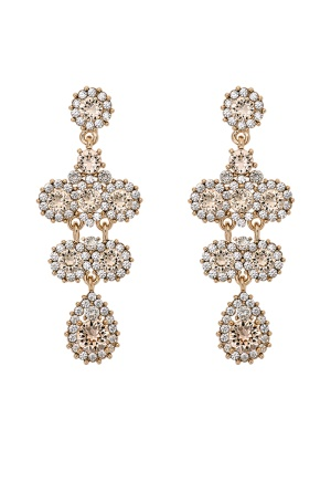 LILY AND ROSE Miss Kate Earrings Champagne/gold One size