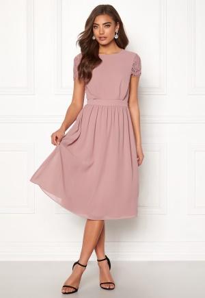 Moments New York Camellia Chiffon Dress Dark old rose 40