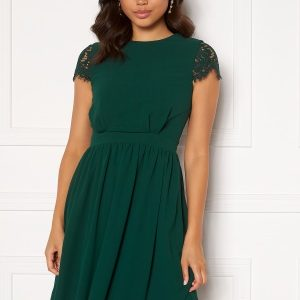 Moments New York Camellia Lace Dress Dark green 36
