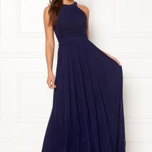 Moments New York Linnea Pleated Gown Navy 36
