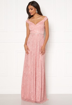 Moments New York Melina Lace Gown Light pink 36