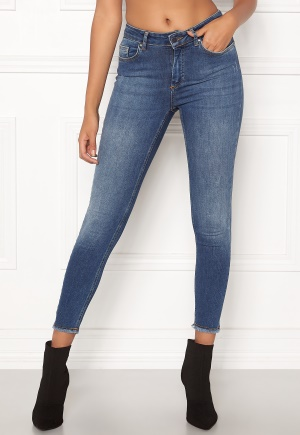 ONLY Blush Mid Ank Raw Jeans Dark Blue Denim M/30