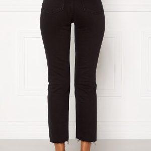 ONLY Emily HW Raw Ank Jeans Black Denim 27/32