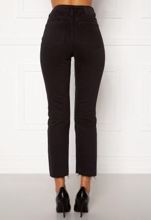 ONLY Emily HW Raw Ank Jeans Black Denim 26/32