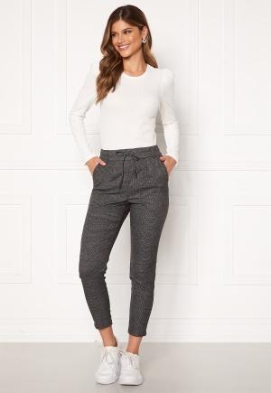 ONLY Poptrash Soft Check Pant Black/Cloud Dancer S/34