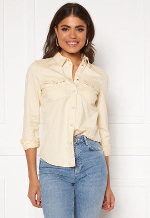 VERO MODA Maria LS Slim Shirt Birch L