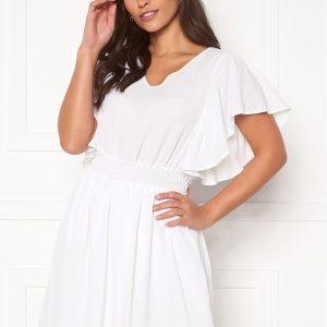 VERO MODA Sasha SS Frill Dress Bright White XL