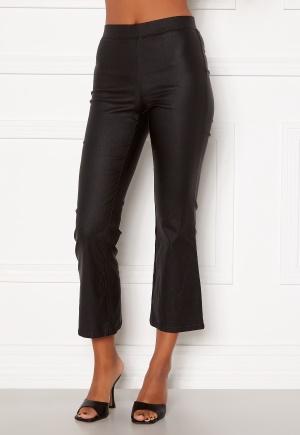 VILA Commit Coated HWSL Cropped Pants Black S