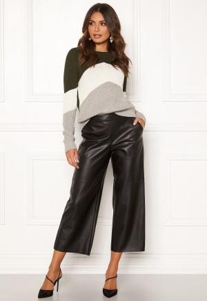 VILA Pen RW Cropped Wide Pants Black 34