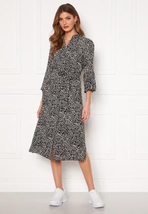 Object Collectors Item Lorena 3/4 Shirt Dress Sandshell AOP Black 40