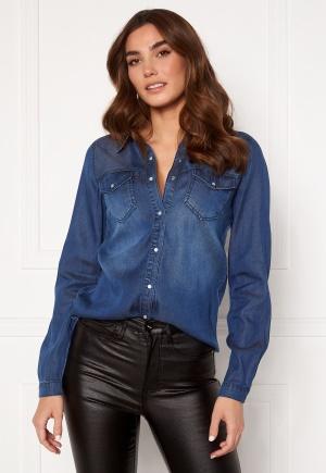 VILA Bista Denim Shirt Dark Blue Denim M