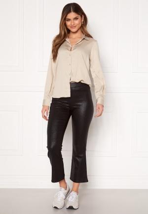 VILA Commit Glitter Cropped Pant Black XS