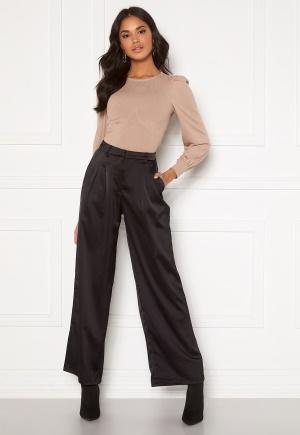 VILA Daye HWRX Wide Pants Black 34