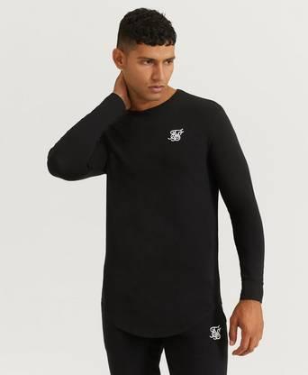 SIKSILK Långärmad T-Shirt L/S Core Gym Tee Svart