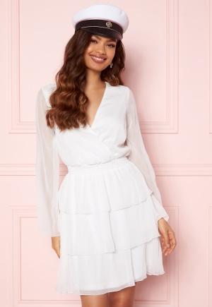 BUBBLEROOM Alina Frill Dress White 32