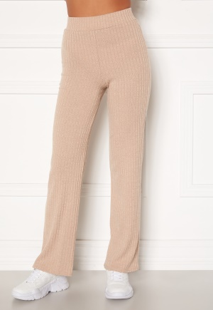 BUBBLEROOM Miley knitted trousers Beige S