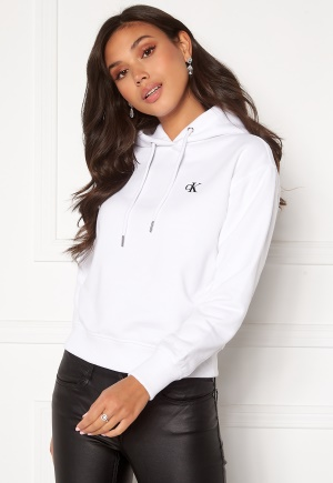 Calvin Klein Jeans CK Embroidery Hoodie YAF Bright White XS
