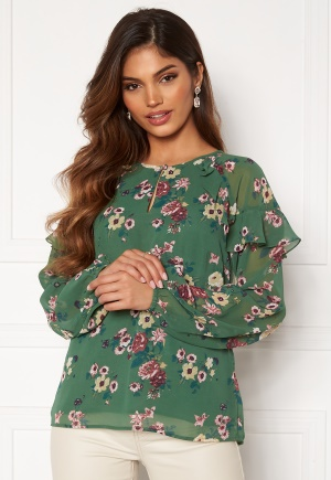Happy Holly Becky blouse Green / Patterned 32/34