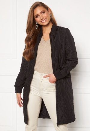 Happy Holly Freya quilted coat Black 36/38