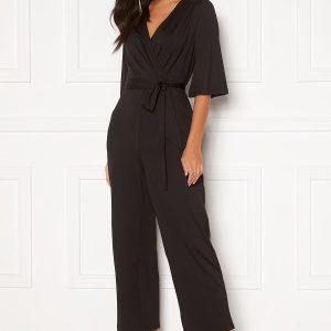 Happy Holly Simone kimono sleeve jumpsuit Black 32/34