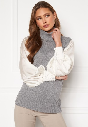 Sisters Point Pulk Knit 50 Mid Grey S