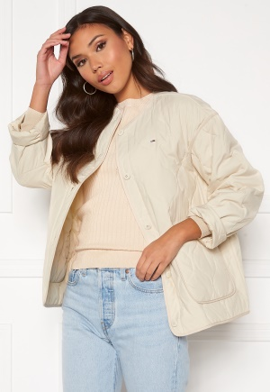 TOMMY JEANS Quilted Liner Jacket AA8 Sugarcane S