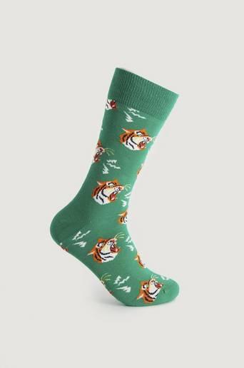 Happy Socks Strumpor Tiger Sock Grön