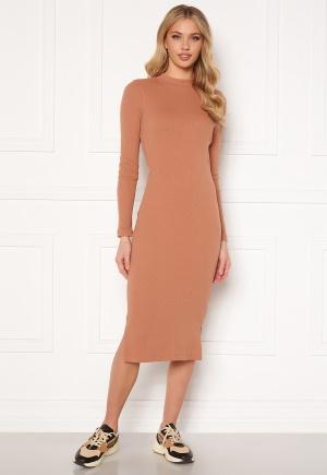 VERO MODA Harriet L/S High Neck Dress Mocha Mousse L