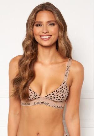 Calvin Klein Unlined Bralette JN6 Savannah Cheetah XL