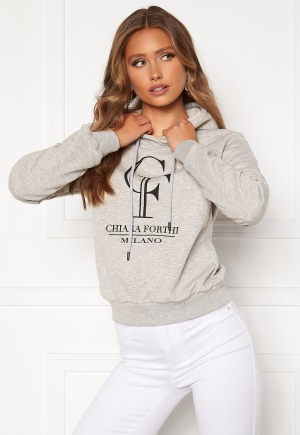 Chiara Forthi Gabriella logo hoody Grey melange XS