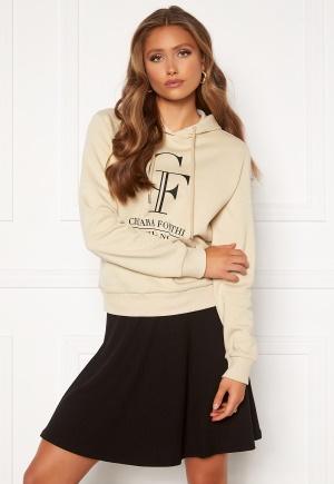 Chiara Forthi Gabriella logo hoody Light beige S