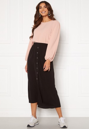 ONLY Nova Lux Button Skirt Solid Black 38