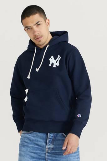 Champion Reverse Weave Hoodie Hooded Sweatshirt Blå