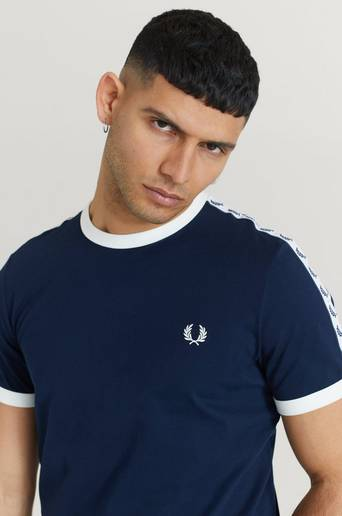 Fred Perry T-shirt Taped Ringer T-Shirt Blå
