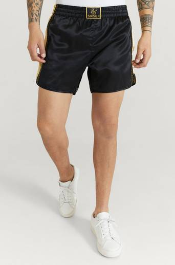 SIKSILK Shorts Muay Tie Satin Shorts Svart