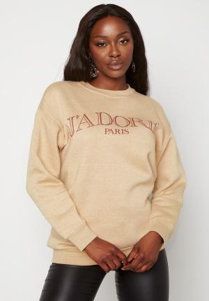 AX Paris Jadore Crew Neck Sweatshirt Stone S/M